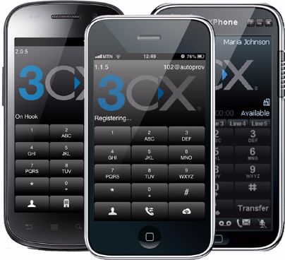 3CX Phone on smartphone