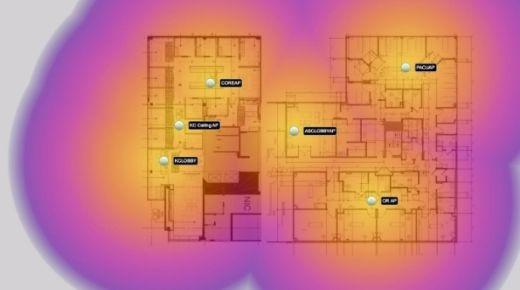 WiFi dekking plattegrond
